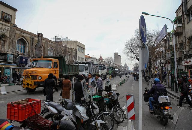 بازگشایی مسیرهای مسدود شده در پی حادثه پلاسکو