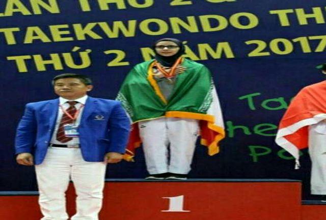 کسب مدال طلای مسابقات کاراته آسیا توسط دانش آموز البرزی