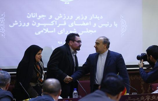 دیدار وزیر ورزش و جوانان با رئیس و اعضای فراکسیون ورزش مجلس شورای اسلامی