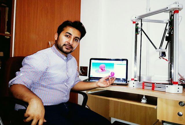 طراحی و ساخت چاپگر سه بعدی با ساختار دلتا توسط دانشجوی موسسه آموزش عالی نبی اکرم(ص) تبریز