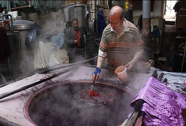 رنگرزی سنتی-شیراز