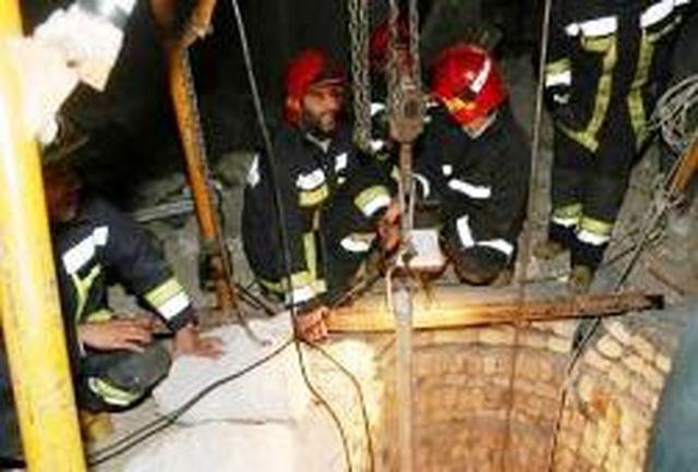 3 کشته در حادثه سقوط در چاه 65 متری
