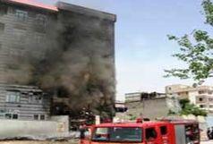حریق یک مجموعه اقامتی در مشهد