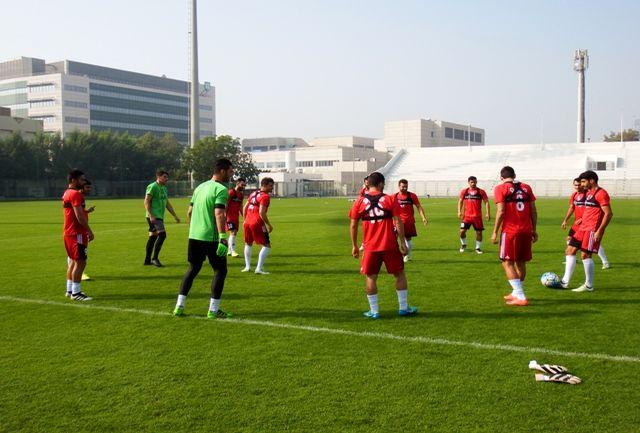 پیگیری تمرینات تیم ملی فوتبال در دوبی