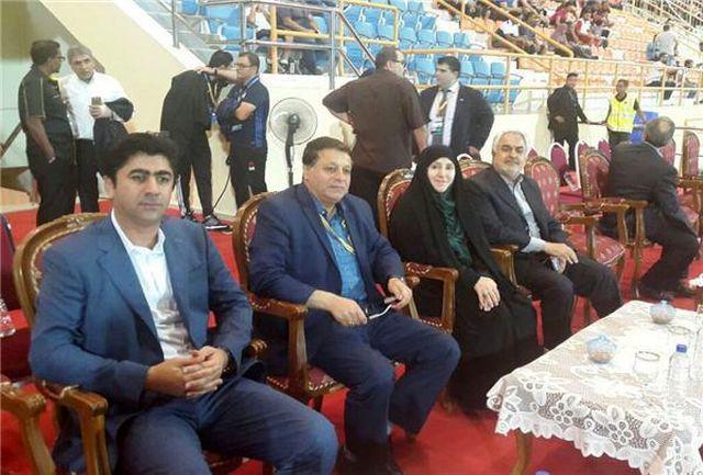 حضور افخم در بازی فوتبال ایران و سوریه
