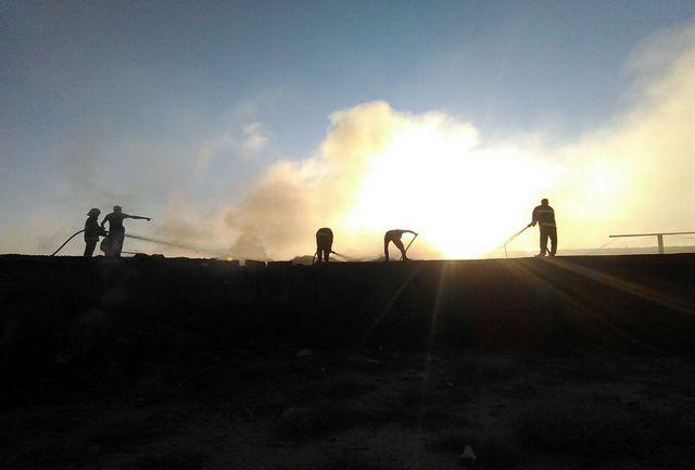 مجتمع گاوداری در جاده سیلوی سمنان در آتش سوخت