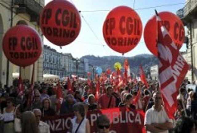 ایتالیاییها در اعتراض به سیاستهای دولت تظاهرات کردند