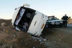 12 مجروح بر اثر واژگونی اتوبوس