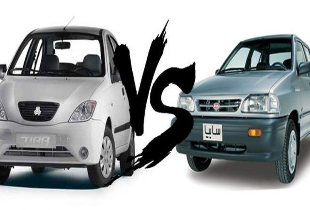 مقایسه فنی دو خودرو/ پراید بخریم یا تیبا؟