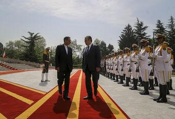 استقبال رسمی از نخست وزیر گرجستان