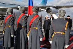 حسن روحانی وارد مسکو شد
