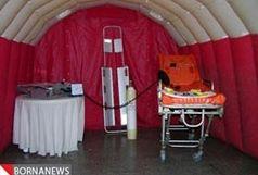 بیمارستان صحرایی شهید باکری در روستای شیخان اشنویه افتتاح شد