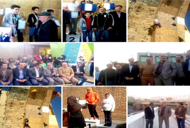 برترین های مسابقه سنگنوردی سرطناب آقایان و بانوان امیدهای استان تهران معرفی شدند
