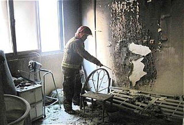 نجات معجزه آسای شهروند معلول از میان رختخواب شعله ور