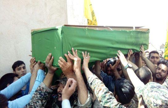 تشییع شهید مدافع حرم در پاکدشت