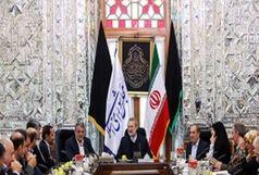جلسه ویژه  اعضای شورای شهر تهران با لاریجانی در مورد دیوارکشی مقابل مجلس قدیم