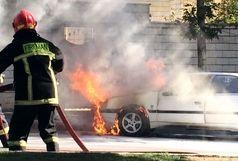باز هم اتصالی برق و آتش سوزی خودرو/ 206 طعمه حریق شد