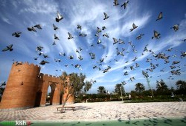 باغ راه ایرانی کیش میزبان هر روزه گردشگران و شهروندان
