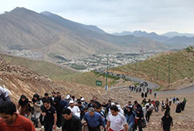 صعود گروه کوهنوردی یافته خرمآباد به قله سفید کوه
