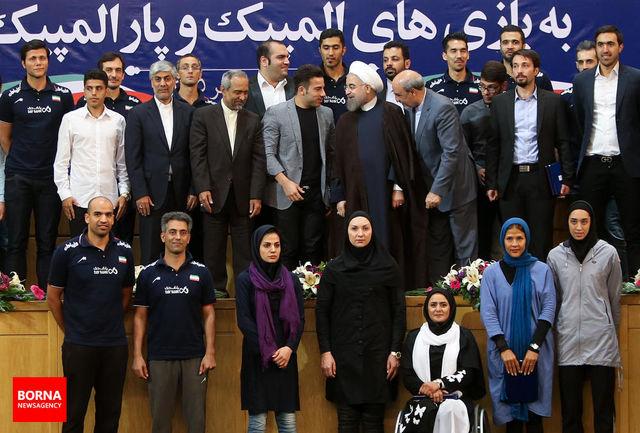 روحانی: دولت تدبیر و امید به حمایت مؤثر از ورزش در ابعاد مختلف قهرمانی و همگانی ادامه خواهد داد/ تقدیر از وزارت ورزش و دست اندرکاران ورزش