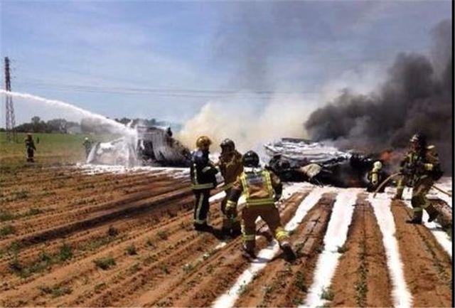 سقوط یک هواپیمای نظامی در اسپانیا