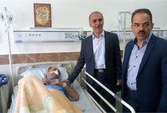 مدیرکل تعاون، کار و رفاه اجتماعی قزوین از مصدومان حادثه تصادف عیادت کرد