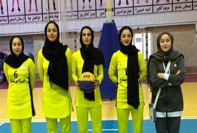کردستان قهرمان اولین دوره مسابقات بسکتبال ۳ نفره بانوان کشور شد