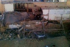 سقوط در حین گود برداری ساختمان