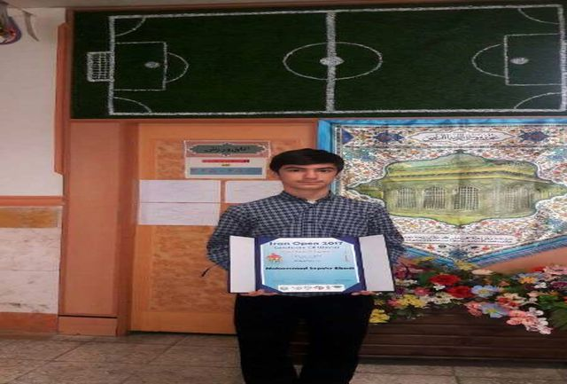 کسب مقام اول دانش آموز البرزی در مسابقات کشوری روبیک