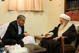 وزیر ارشاد با آیت الله صافی گلپایگانی دیدار کرد