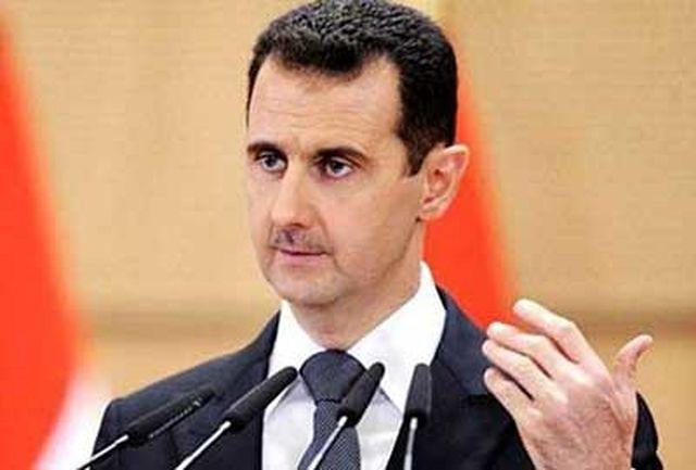 بشار اسد در تماس تلفنی با روحانی حادثه تروریستی تهران را محکوم کرد