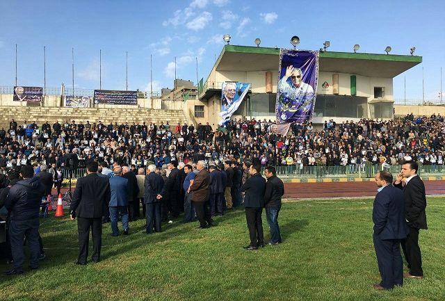 حضور وزیر ورزش و جوانان در مراسم تشییع پدر استقلال+عکس