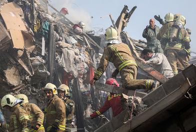 آتش سوزی و فروریختن ساختمان پلاسکو-4