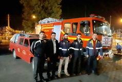 کمک رسانی آتش نشانان قزوین به زلزله زدگان غرب کشور
