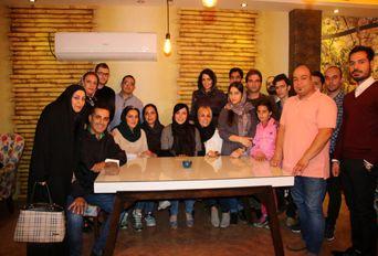 حضور فلور نظری بازیگر سینما در لاهیجان