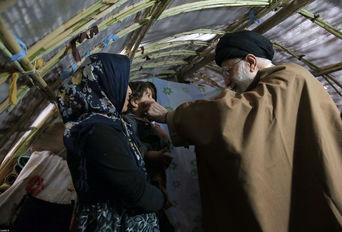 بازدید رهبر انقلاب از روستاهای زلزلهزده کرمانشاه