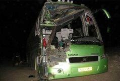 یک کشته و  ۱۵ زخمی در تصادف اتوبوس + ببینید