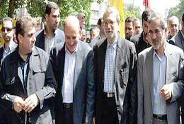 آغاز مراسم راهپیمایی روز جهانی قدس در البرز / رئیس مجلس به جمع راهپیمایان پیوست