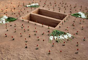 تشییع و تدفین دو شهید گمنام در شهر صدرای شیراز