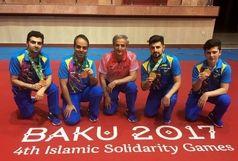 تیم تنیس روی میز ایران با سرمربیگری جمیل لطف اله نسبی بر سکوی نخست ایستاد