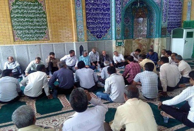 برگزاری نشست هماهنگی اجرای الگوی کشت و توزیع آب در شبکه شمالی شهرستان میناب