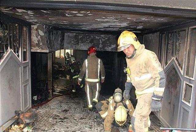 نجات جان دو کودک در آتش سوزی منزل مسکونی