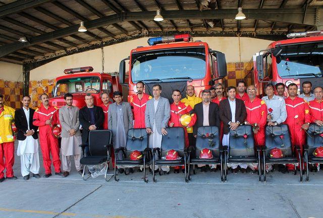 قدردانی موسسه مردم نهاد آدینه جنوب چابهار از آتشنشان منطقه آزاد