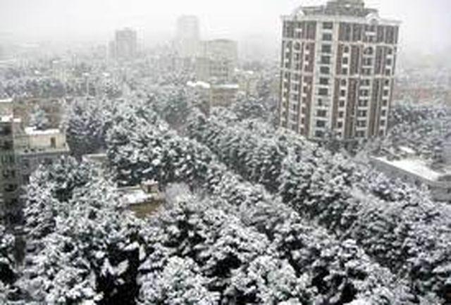ادامه بارش برف تا روز چهارشنبه در کرمانشاه