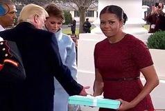 هدیه همسر ترامپ، همسر اوباما را گیج کرد!/ ببینید