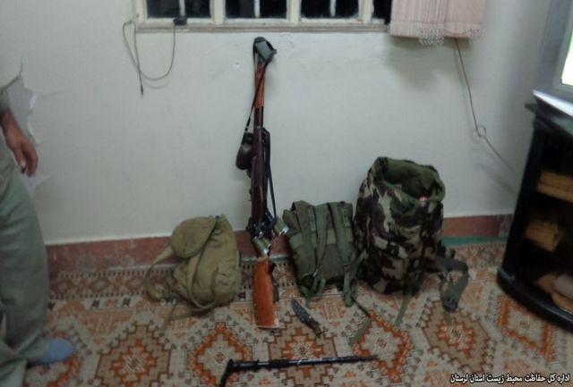دستگیری یک شکارچی  ویک صیاد متخلف در نور آباد