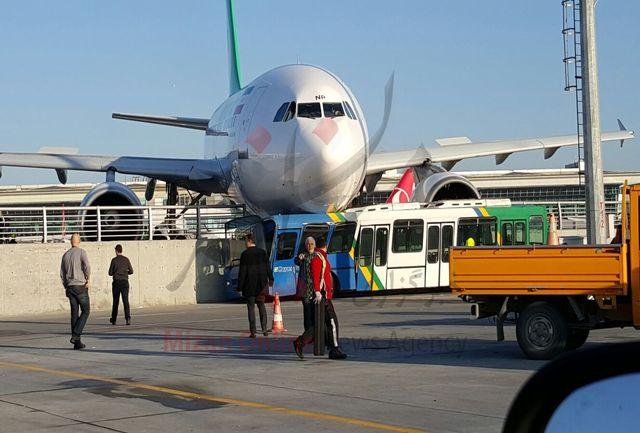 تصاویر تصادف هواپیمای ایرانی در فرودگاه آتاتورک
