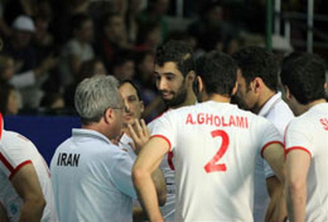 تیم ملی والیبال ایران در کالینینگراد روسیه