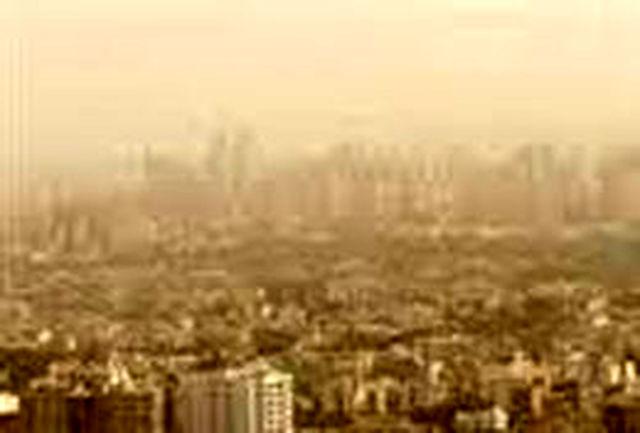 ورود گردو غبار به تهران