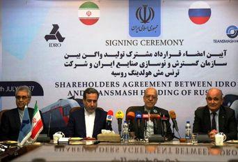 آیین قرارداد بین سازمان گسترش و نوسازی صنایع ایران و شرکت ترنس مش روسیه